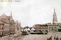Náměstí Svobody na dobové fotografii z počátku 20. století.