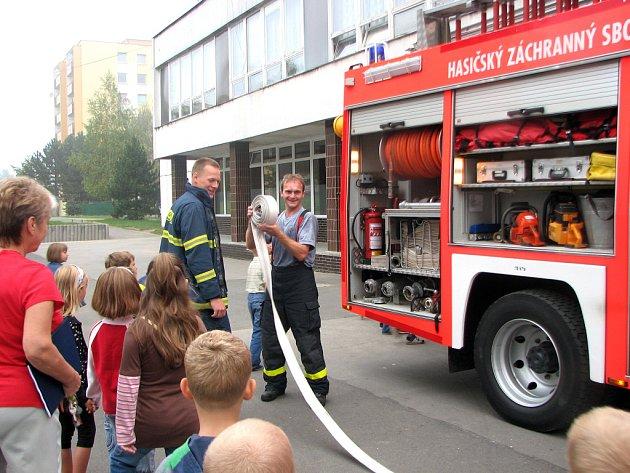 Požární cvičení na ZŠ Ge. Svobody v Havířově-Šumbarku