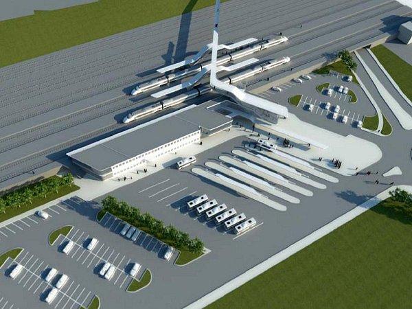 Vizualizace nového vlakového nádraží vHavířově