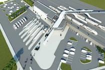 Vizualizace nového vlakového nádraží v Havířově