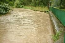 Řeka Lučina v závěru minulého týdne