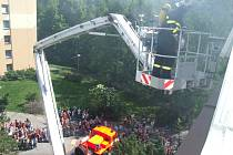 Cvičný požární poplach v havířovské škole Fr. Hrubína