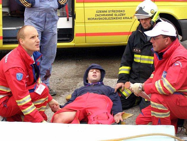 Havířovští záchranáři Aleš Popel (vlevo) a Martin Svoboda se poprali se všemi úkoly velmi dobře.