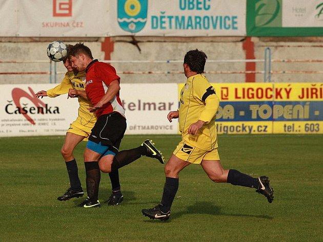 Dětmarovičtí fotbalisté po další výhře už atakují čelo přeboru.