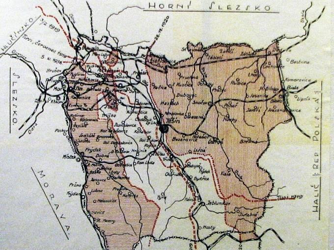 Mapa plebiscitního rozdělení