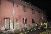 Místo tragického požáru v petřvaldské Prostřední ulici.