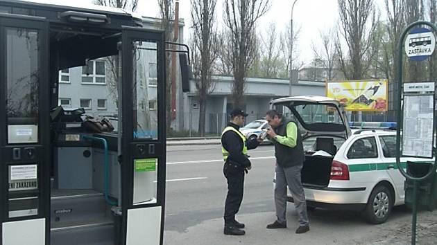 Kontrola řidičů autobusů