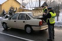 Zadržení řidiče v kradeném autě