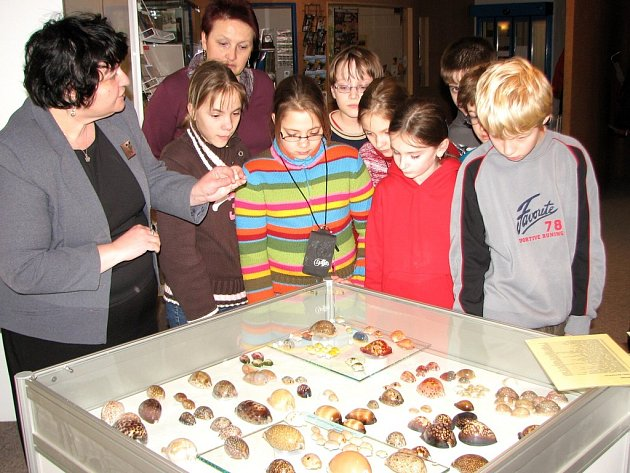 Jako první si výstavu prohlédli páťáci ze ZŠ 1. máje.