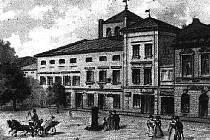 Na pohlednici je bývalý bohumínský zámek v roce 1898.