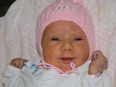 Nela Klimszová z Těrlicka se narodila 12. února v Třinci. Měřila 53 cm a vážila3080 g.