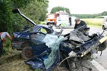 Vážná nehoda v Dolní Lutyni