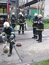 Cvičení hasičů na Dole Lazy