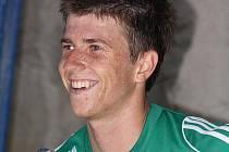 Lukáš Bartošák měl po zápase v Havířově důvod k úsměvu.