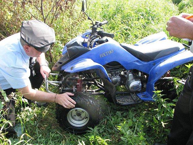 U řeky Lučiny v Havířově byla nalezena čtyřkolka