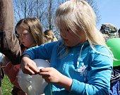Školáci z Dolní Lutyně v rámci oslav Dne Země absolvovali vědomostní soutěž s enviromentální tématikou a před polednem symbolicky vypustili stovky barevných balónků se vzkazem