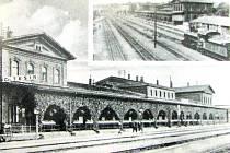 Českotěšínské nádraží v první polovině dvacátých let 20. století.