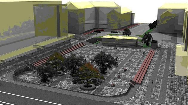 Jedna z variant budoucí podoby náměstí TGM v havířovském Šumbarku