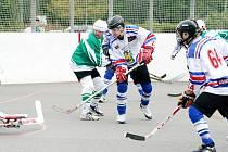 Hokejbalisté Inteva chtějí po víkendu stanout na špičce prvoligové soutěže.