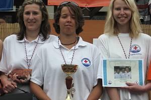 Vítězný tým těrlických záchranářů, ženy
