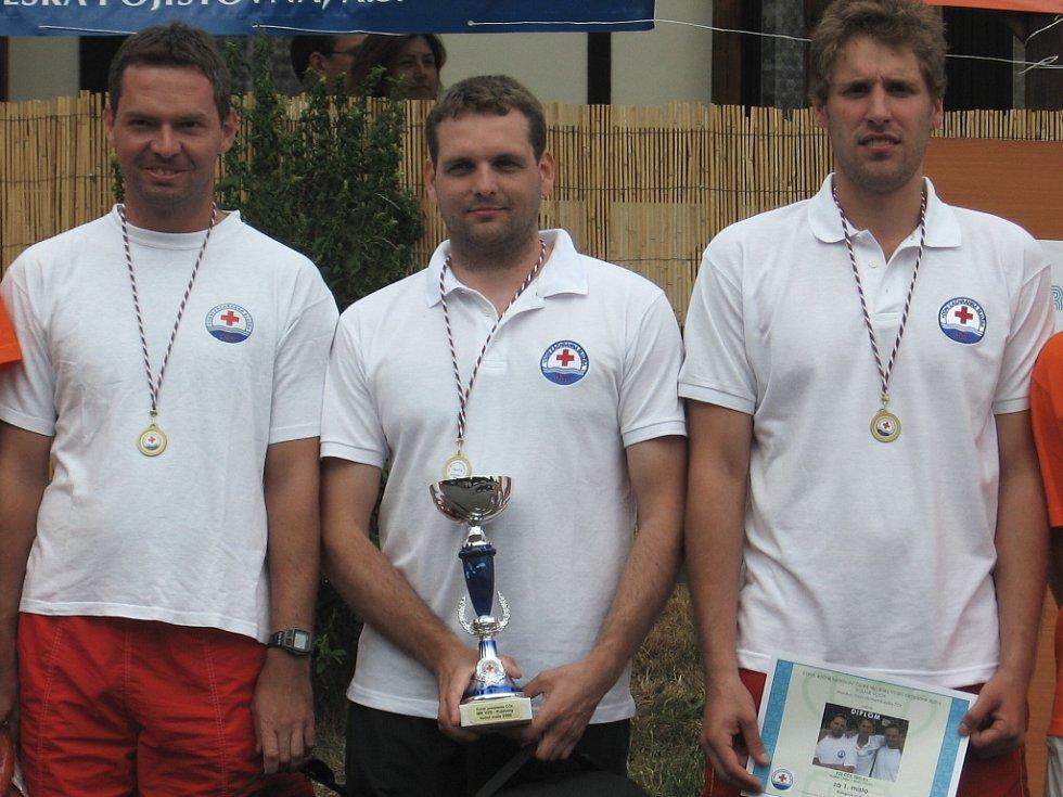 Vítězný tým těrlických záchranářů, muži