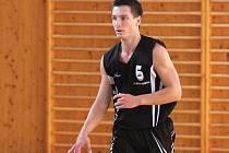 Tomáš Hadinec z týmu basketbalových juniorů.