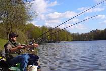 Rybář při soutěži