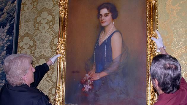 Portrét hraběnky Olivie Larisch-Mönnichové