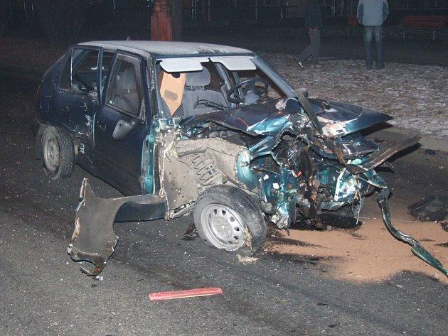 Felicie byla po nárazu silně poškozena.