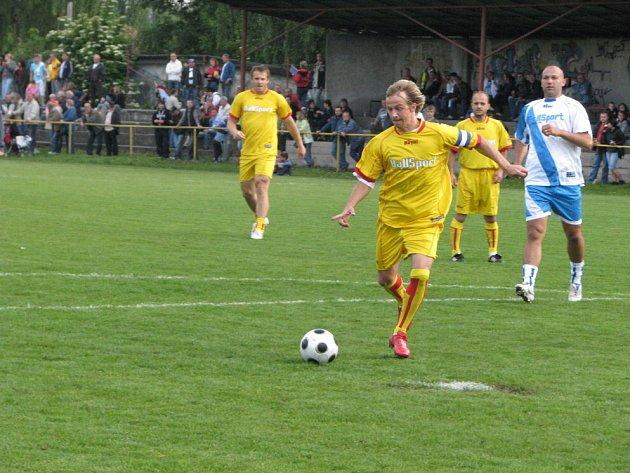 Fotbalová exhibice v Petřvaldě