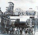 Hlavní brána na přelomu čtyřicátých a padesátých let 20. století.