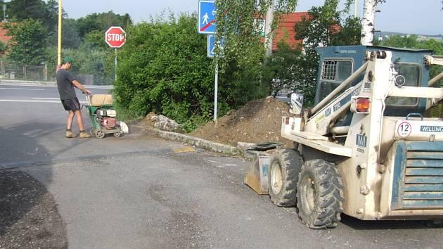 Výměna plynového potrubí v Bludovicích