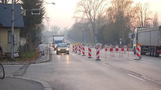 Stavební úpravy přechodu na Ostravské ulici v Karviné