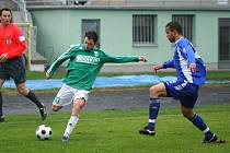 Ani Michal Macek (vlevo) se proti Slovácku neprosadil.