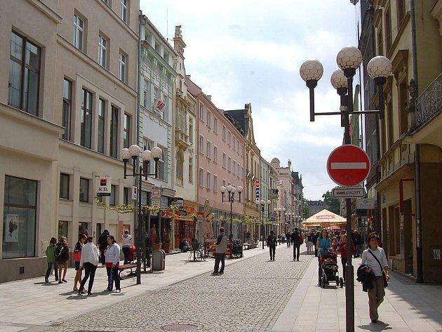 Ostrožná ulice v Opavě.