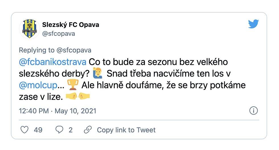 Fotbalová Opava se svým soupeři stylově rozloučila