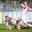Opava - Zápas 17. kola FORTUNA:LIGY mezi SFC Opava a SK Slavia Praha 3. prosince 2018 na Městském stadionu v Opavě. Vojtěch Šrom (SFC Opava).