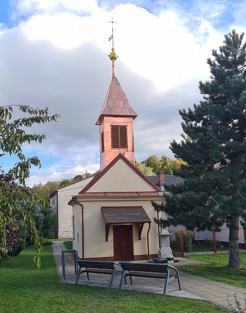 Opravená kaple sv. Trojice.