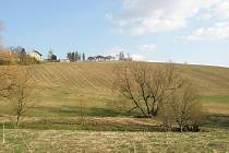 V těchto místech za obcí Moravice bude v budoucnu stát rozhledna.