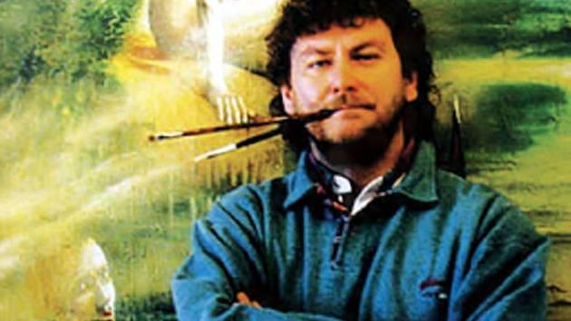 Malíř a grafik Richard Pešek věnoval svůj obraz i americkému prezidentovi Georgi Bushovi.