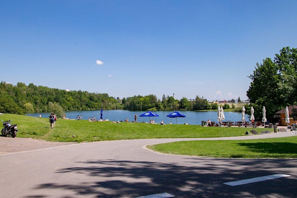 Stříbrné jezero v Opavě.