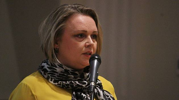 Hana Brňáková na ustavujícím zastupitelstvu v roce 2018.