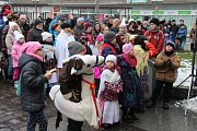 Koněc masopusta na Horním náměstí v Opavě