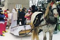 Masopustní průvod a slavnost Pochování basy je v Jančí už tradiční záležitostí.