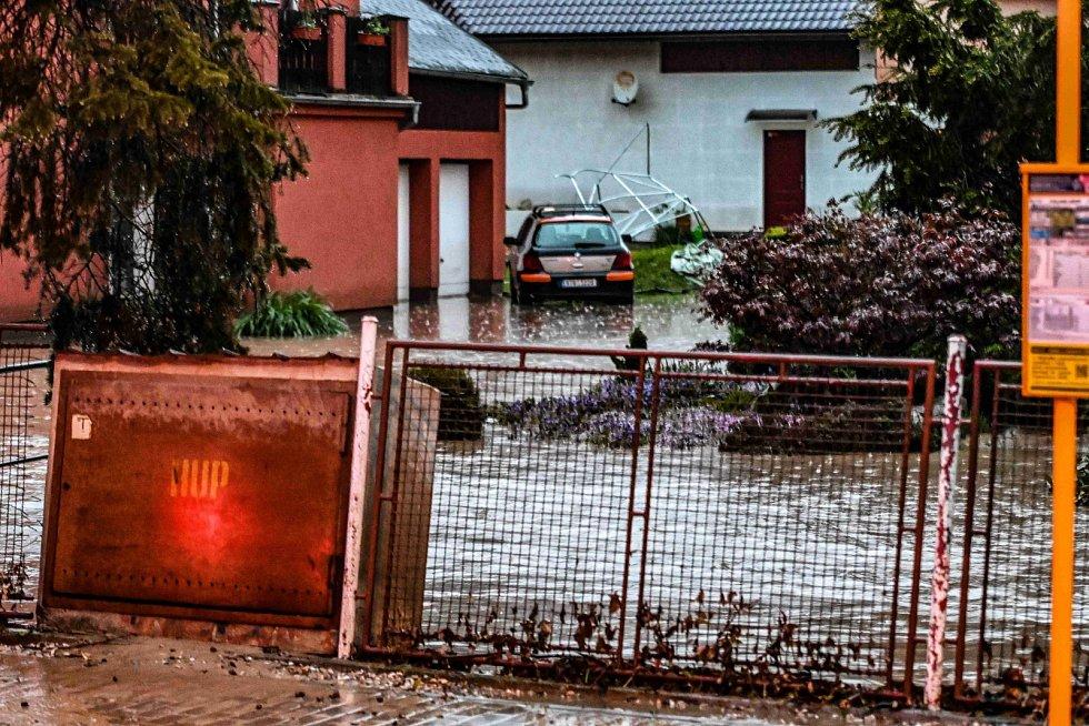 Blesková povodeň na Opavsku.
