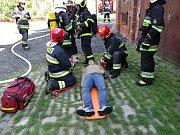 Společné cvičení českých a polských hasičů v Sudicích.