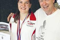 Eva Havranková s trenérem Ivo Bornou.
