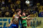 Utkání Fortuna ligy, SFC Opava -1.FK Příbram. Zleva Filip Souček, Jaroslav Tregler. 28.6.2020 v Opavě.