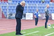 Utkání 28. kola druhé fotbalové ligy (Fortuna národní liga): Baník Ostrava vs. Baník Sokolov, 13. května v Ostravě. Vlastimil Petržela.