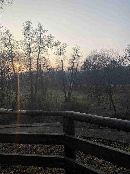 Okolí Hradce nad Moravicí.
